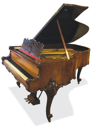 Lot 35 - Steinway (c1919)  A 5ft 10in Louis XV style Model O grand piano in a rosewood case together with a