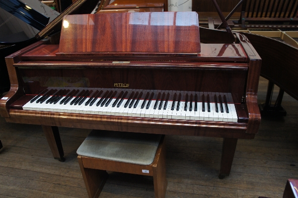 Lot 36 - Petrof (c1987) A 5ft 10in grand piano in a bright mahogany case on square tapered legs, together