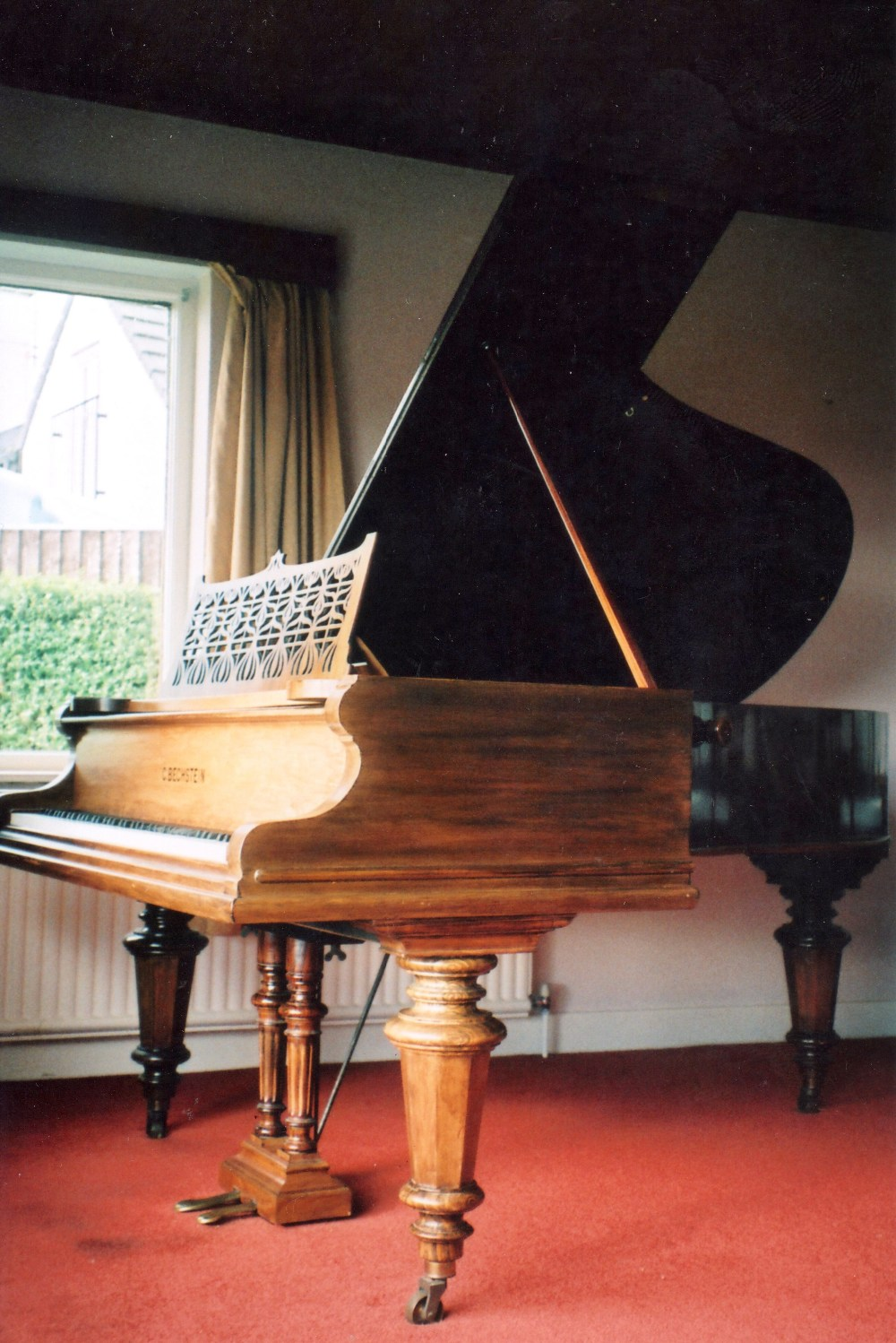Lot 46 - Bechstein (c1897) A Model V 6ft 7in grand piano in a rosewood case on turned octagonal legs.