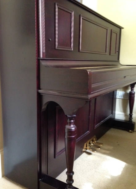 Lot 5 - Görs & Kallmann  A recent upright piano in a period style traditional mahogany case, together with a
