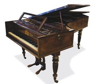 Lot 50 - William Stodart  (c1821) A grand fortepiano in a rosewood case with brass inlay, compass of six