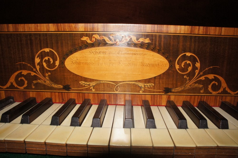 Lot 53 - Schoene and Co. Successors to Johannes Zumpe (c1793) A square piano in a mahogany case on a