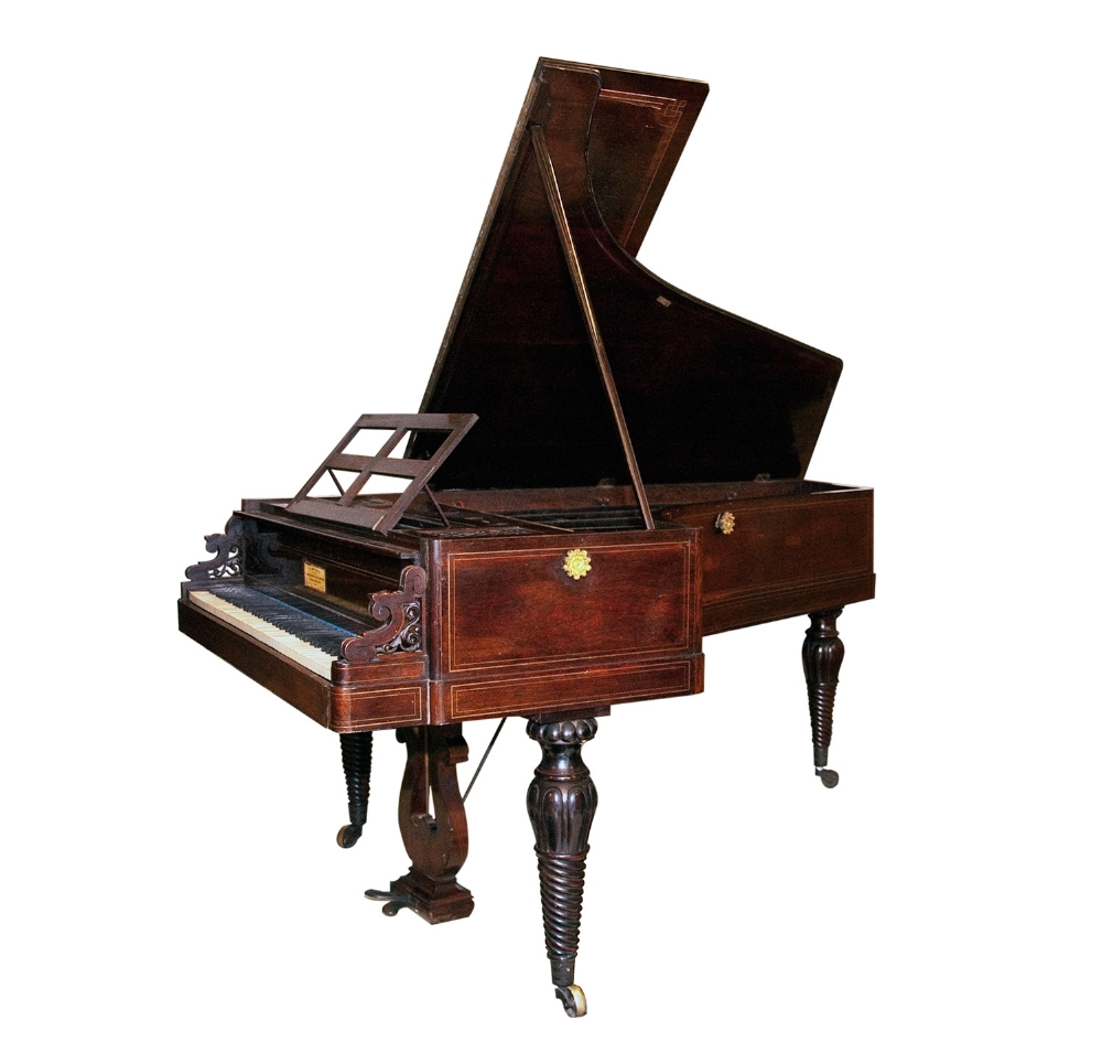 Lot 58 - Kriegelstein et Plantade, Paris (c1840)  An early grand piano in a rosewood case with inlaid brass