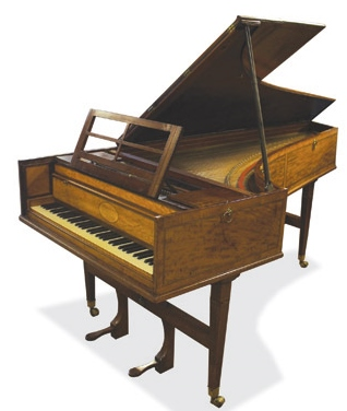 Lot 60 - John Broadwood and Son (c1801) A grand fortepiano in a mahogany case crossbanded with satinwood,