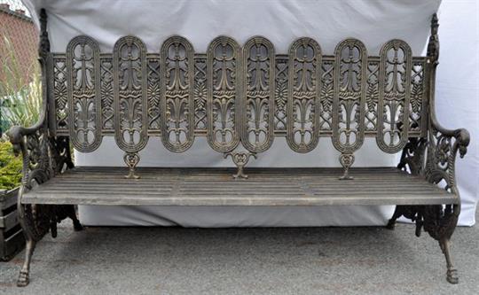 A Double Sided Park Bench Cast Iron Banc Double Face En Fonte