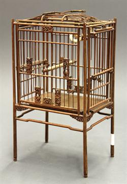 Chinese Rectangular Bamboo Bird CageChinese bamboo bird cage