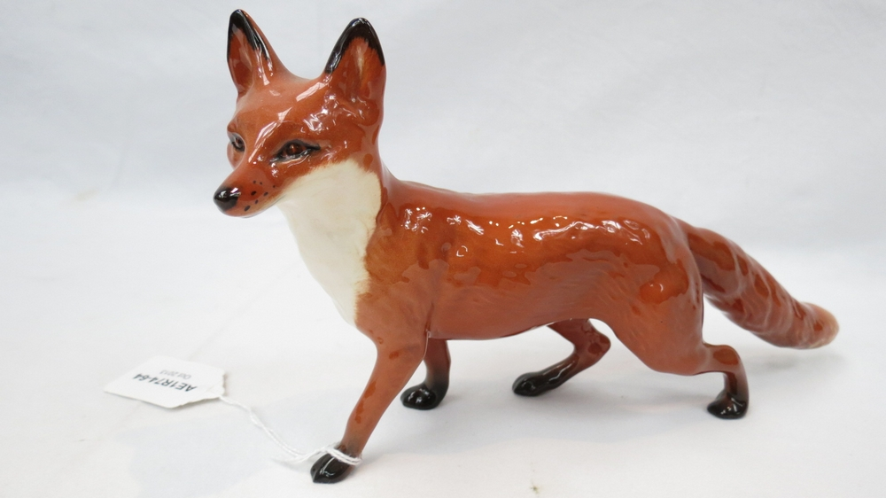 Lot 468 - A Beswick figure of a large prowling fox, model 1016.