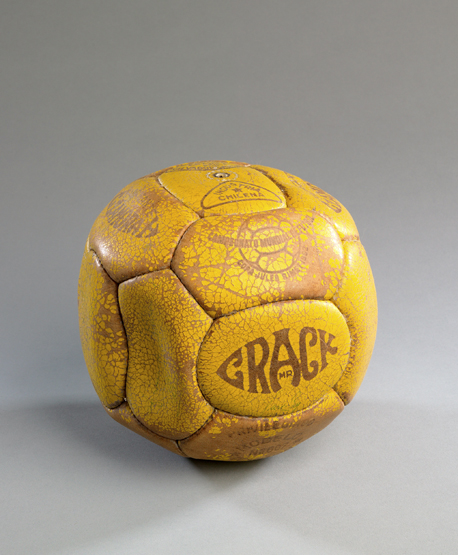 Lot 369 - A match ball used at the 1962 World Cup in Chile, stamped with 1962 World Cup logo, a 'Mr Crack'