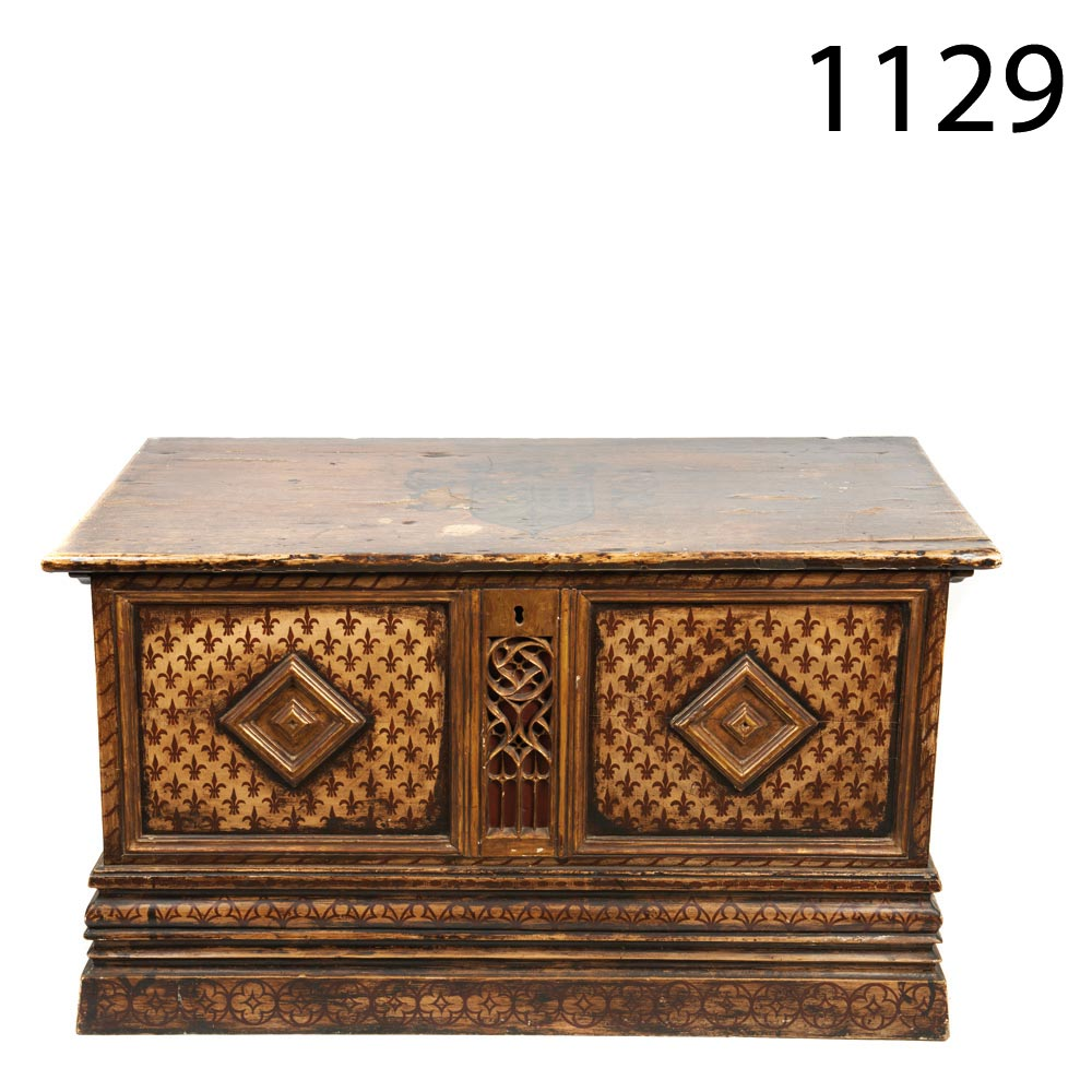 Gothic Style Chestnut Chest 19th Century Arca Estilo G Tico S Xix  # Muebles Directo Cee