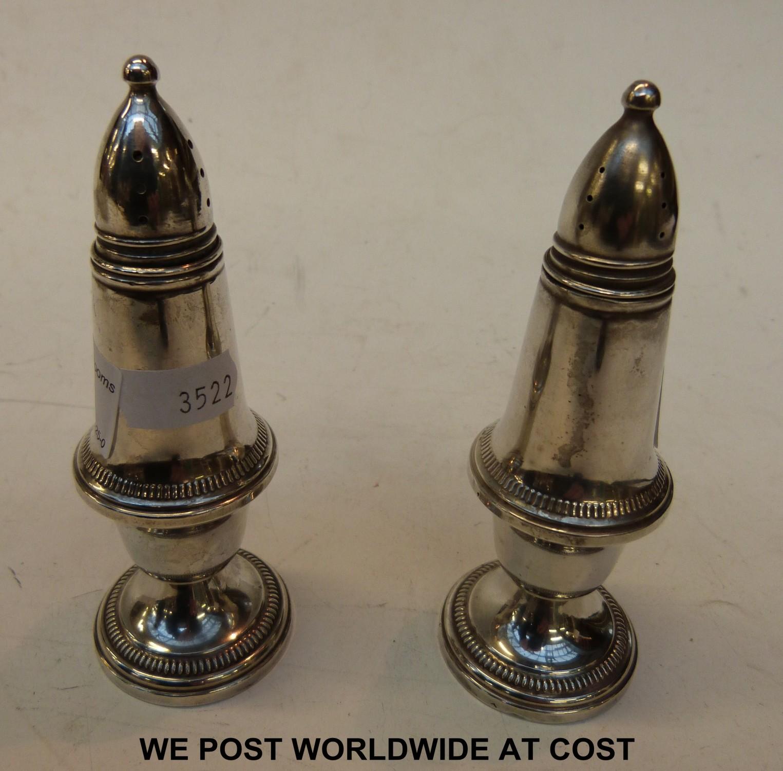 Sterling Silver Salt And Pepper Pots