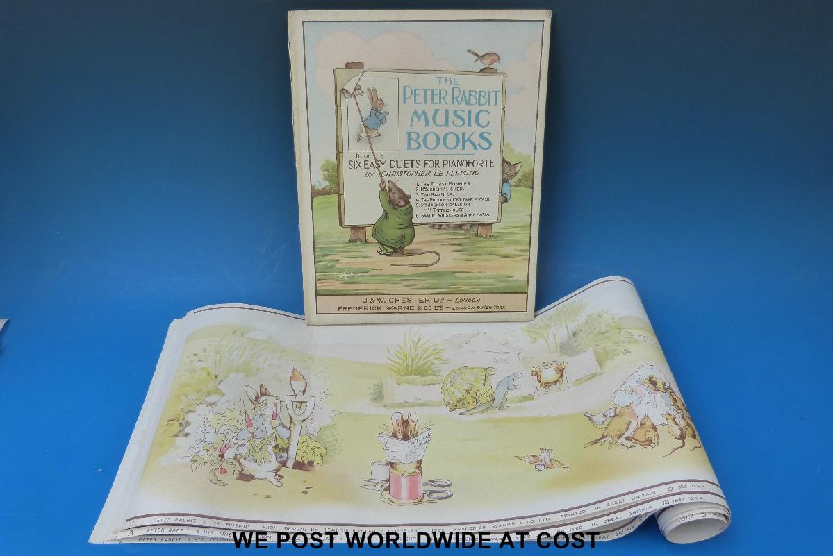 Beatrix potter peter rabbit and friends three section - Peter rabbit nursery border ...