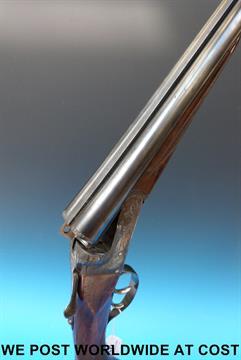 A 16 bore side by side shotgun by Escopetas 'Gorosabel' Eibar