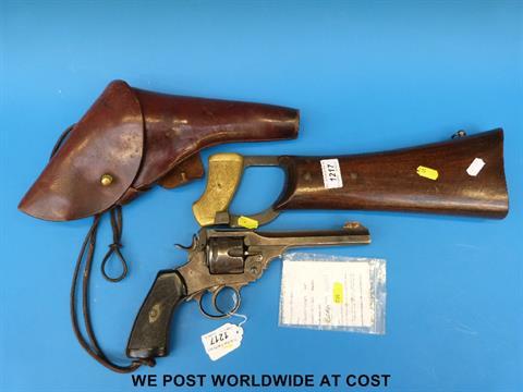 A Webley British Officer's MkVI WWI 1918 revolver, complete