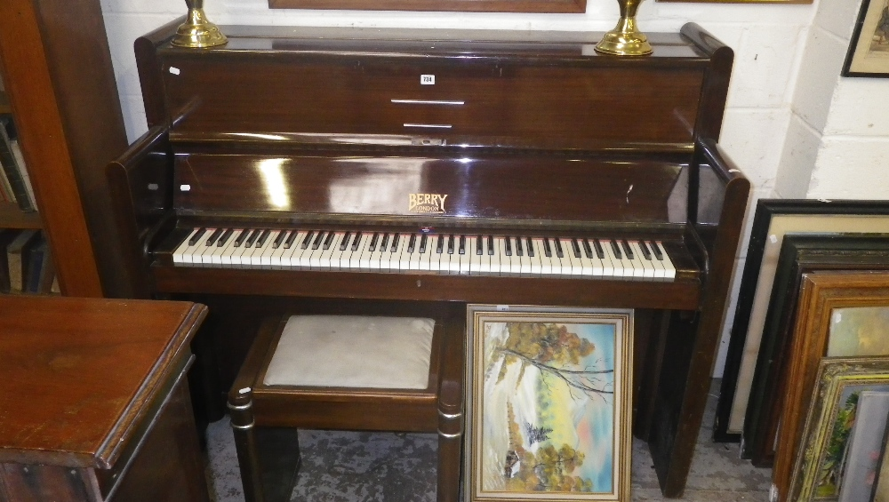 Lot 734 - An Art Deco mahogany upright piano by Berry London (14 City & An Art Deco mahogany upright piano by Berry London (14 City Road ... islam-shia.org