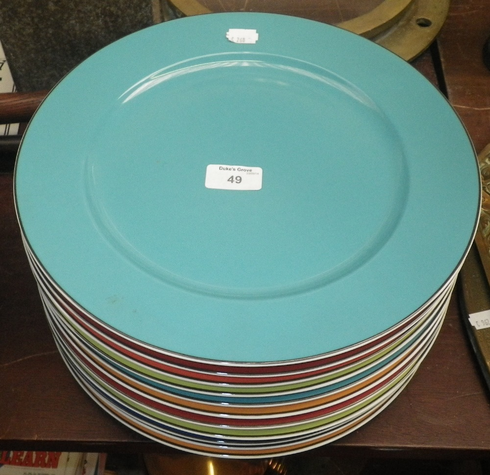 Lot 49 - A collection of Rosenthal multi-coloured dinner plates & A collection of Rosenthal multi-coloured dinner plates