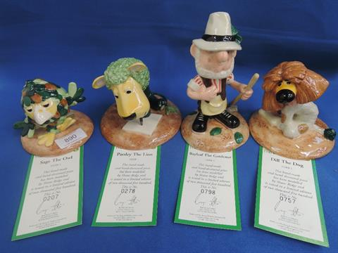 Four Royal Doulton Limited Edition figurines, Parsley The