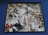 A selection of costume jewellery including bead and diamante necklaces