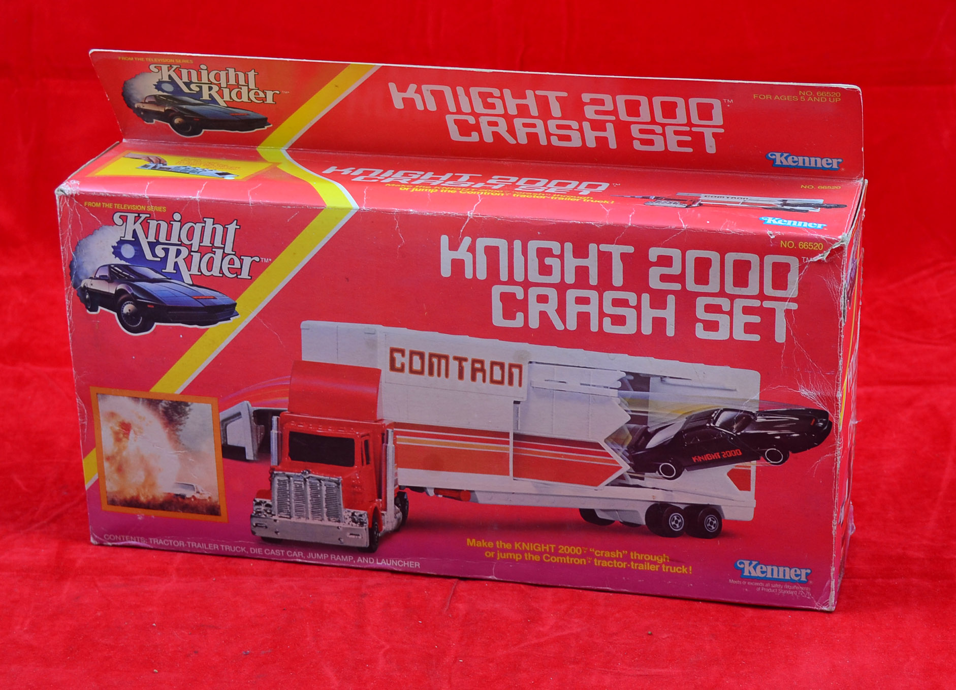 Kenner No Knight Rider Knight 2000 Crash Set consists of