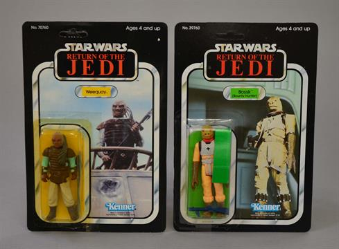 Two Kenner Star Wars Return Of The Jedi Action Figures