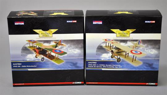 Two Corgi Aviation Archive 1:48 scale diecast model aircraft