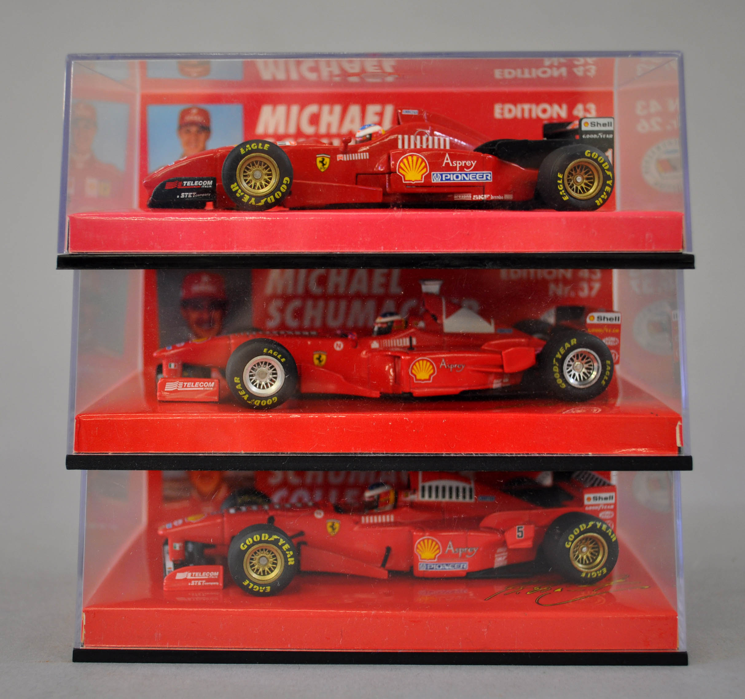 three minichamps michael schumacher collection edition 43. Black Bedroom Furniture Sets. Home Design Ideas