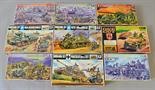 Nine plastic model kits, all tanks, mostly Nitto. All boxed, unstarted but missing bases. (9)