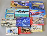12 x plastic model kits, all aircraft, by Airfix, Novo and similar. All boxed, unstarted and appear