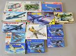 13 x plastic model kits, all military aircraft, by Revell, ICM and similar. All boxed, unstarted