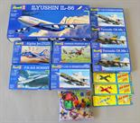 Eight Revell plastic model kits, all military aircraft (some duplicates). All boxed, unstarted and