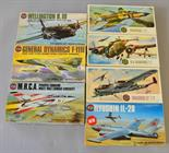 Seven Airfix plastic model kits, all military aircraft: 4013; 4001; 4011; 4008; 4014; 4019; 4010.