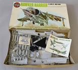 Airfix 18001, 1:24 scale Hawker Harrier plastic model kit. Boxed, unstarted and appears complete (