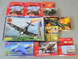Nine Airfix plastic model kits, mostly aircraft. Boxed, unstarted and appear complete (not