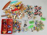 Quantity of 1/32 scale Timpo Toys and other plastic figures, includes Red Indians, together with a