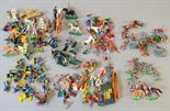Good quantity of assorted plastic figures, mostly 1/32 scale, by Britains, Airfix and others.