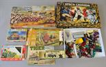 Mixed lot of soldiers and figures, includes: boxed MB Games Space Crusade; boxed Airfix 1/72
