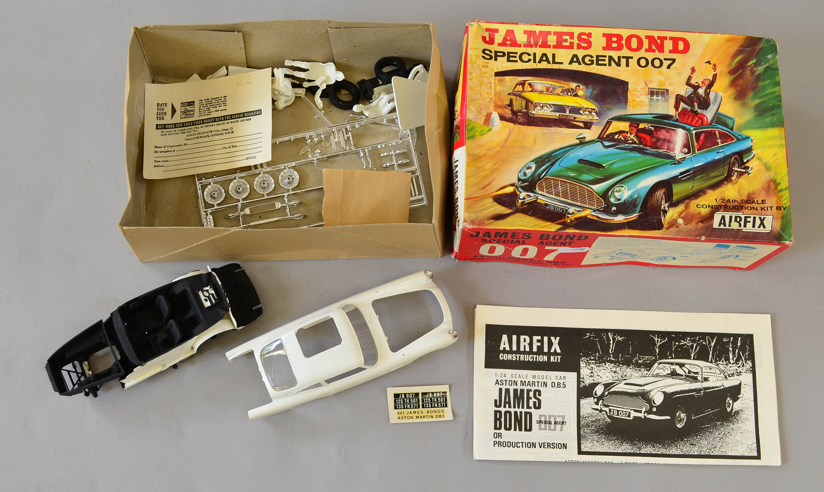 airfix james bond special agent 007 aston martin db5 model kit