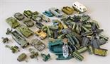 17 x die-cast military vehicles by Britains and others, together with a quantity of plastic
