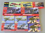11 x plastic model kits, all aircraft, by Airfix, Kopro and similar. Boxed, appear complete (not