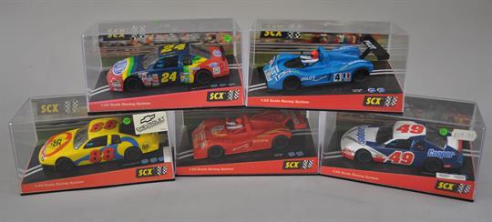 Five TecniToys SCX slot cars: 60030