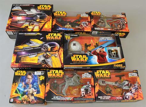 14 X Star Wars Revenge Of The Sith Toys Includes Hasbro Grievous Wheel Bike Hasbro Anakin S