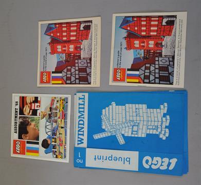 Four lego blueprints hard to find c 1965 no 1 windmill no 2 four lego blueprints hard to find c 1965 no 1 windmill no 2 boathouse no 3 london bus malvernweather Images