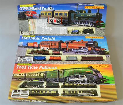 OO Gauge 3 x Hornby Train sets: R694 Mixed Freight, R770