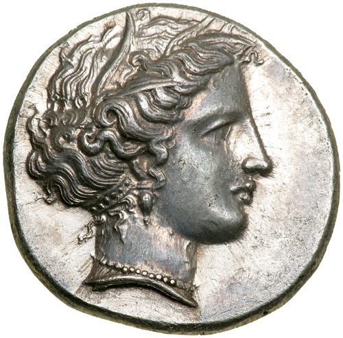 Lot 2319 - Greek Coinage  Lokris, Lokri Opuntii. Silver Stater (12.0 g), ca. 350-340 BC. Head of Demeter right,