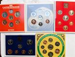 Lot 44 - Coin year proof and specimen sets x 10 1981, 1982 x 2, 1983, 1984, 1985 x 2, 1991, 1999 and 2000