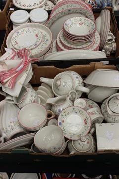 Auction date & Johnson Brothers u0027Summer Chintzu0027 pattern dinner service comprising ...