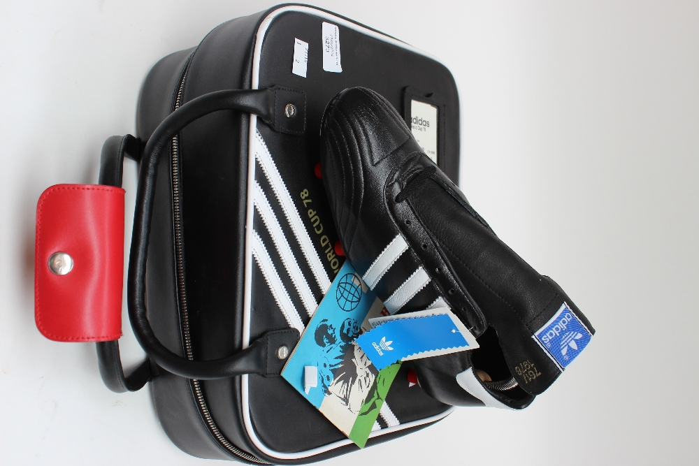 Limited edition Adidas bag with World Cup 78 football boots