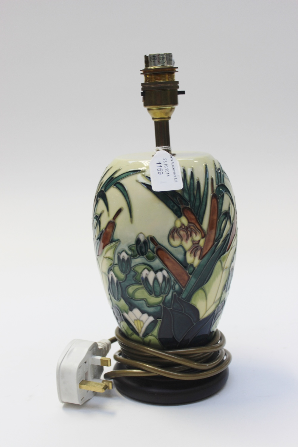 A modern moorcroft pottery table lamp of baluster form decorated lot 1159 a modern moorcroft pottery table lamp of baluster form decorated with a aloadofball Choice Image
