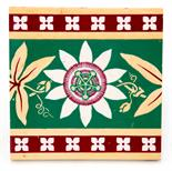 A W N Pugin for Minton, Hollins and Co, a ceramic tile in the passion flower design, pattern