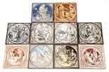 John Moyr Smith for Minton, a collection of printed tiles including Elija and Samuel from the Old