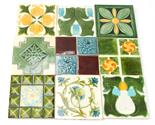 A collection of Pilkington tube lined glazed tiles in the Art Nouveau style by various designers